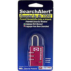 CCL 74710 TRAVEL LOCK SEARCHALERT RED (K7470PRD)