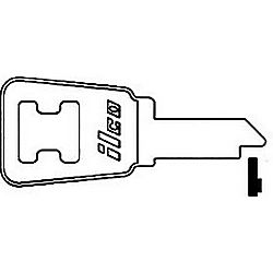 ILCO HD21-ISO HONDA MOTORCYCLE KEY