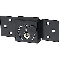 ABUS LOCK 141/200-26/70-C-BLACK DISCUS INTEGRAL HASP CARDED