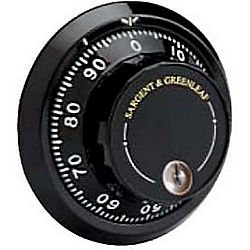 SARGENT & GREENLEAF D690-007 BLACK AND WHITE KEY LOCKING DIAL ONLY