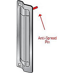 PRO-LOK ELP-250-1-AL LATCH PROTECTOR-11in W/1-PIN RECTANGLE