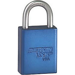 AMERICAN LOCK A1105WO BLU SAFETY PADLOCK 1IN SHACKLE BLUE LC