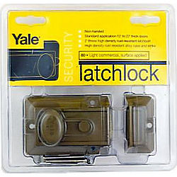 YALE V80 RIM LATCH SINGLE CYLINDER