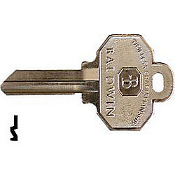 BALDWIN 8336152 BALDWIN 6 PIN KEY BLANK