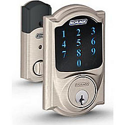 SCHLAGE LOCK BE469NX CAM605 TOUCHSCREEN DEADBOLT CAMELOT W/ Z-WAVE
