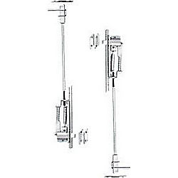 DOOR CONTROL 842US26D METAL DOOR AUTO FLUSH BOLT PAIR