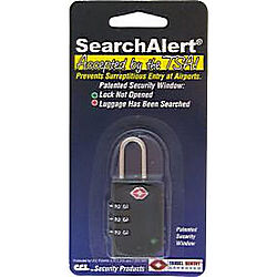 CCL 74703 TRAVEL LOCK SEARCHALERT BLACK (K7470PSB