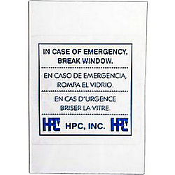 HPC 511-GLASS REPLACEMENT GLASS F/EMERGENCY KEY BOX