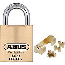 Abus Lock Company ABU83KNK/45-W/ADAPTERS BRASS PADLOCK OEM CYLINDERS 1 3/4IN WIDE