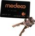 Medeco High Security Locks MEDCARD-GL-66 6 PIN BIAXIAL 2/KEYS