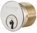 American Lock AMAAM112WP6-26D-YS1-UNUP 1-1/8IN MORTISE CYLINDER EDGE UP NO KEY