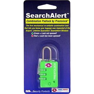 CCL 74705 TRAVEL LOCK SEARCHALERT GREEN (K7470PFG