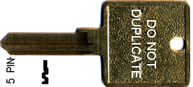 Ilco Unican Corporation ILC1001EH-HCBL-ISO CORBIN KEY 5-PIN 60-5-10 CO87 MOTEL