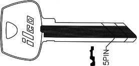Ilco Unican Corporation ILC1007CM-ISO SARGENT KEY 273CM