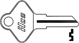 Ilco Unican Corporation ILC1001JL-ISO CCL KEY 5865-JL CO11