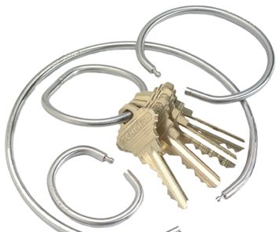 Key Systems KEY279 1in TAMPER PROOF KEY RING